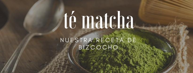 Nuestra receta de bizcocho de té matcha, ¿te vienes a probarla?
