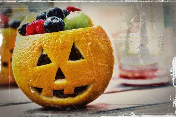 comida para Halloween naranjas o' lantern