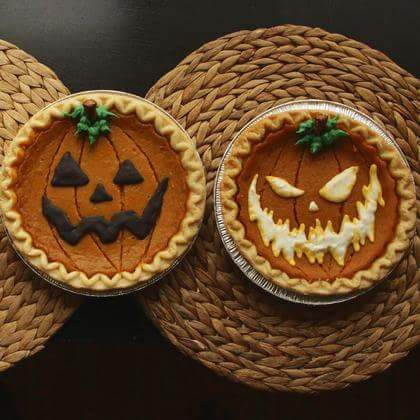 comida para Halloween Pumpkin pie