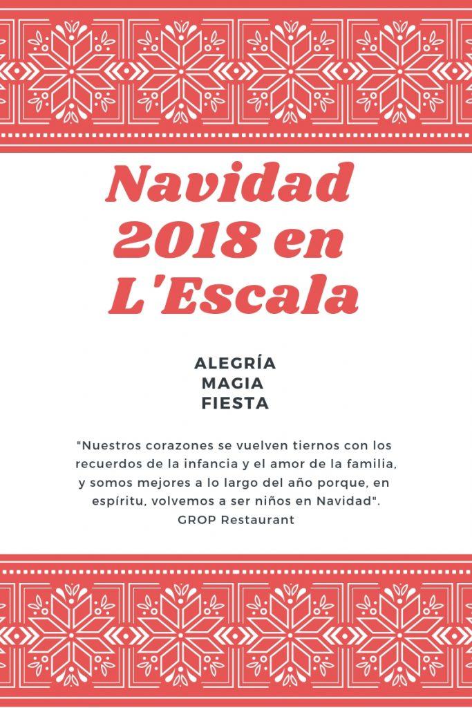Navidad 2018 en L'Escala palabras